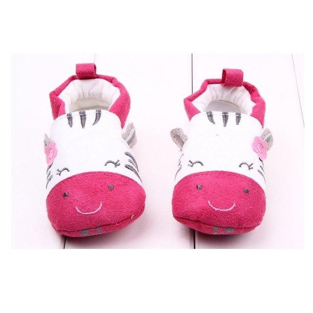 Cute Baby Shoes - White/Pink Zebra - Maraya's Marketplace