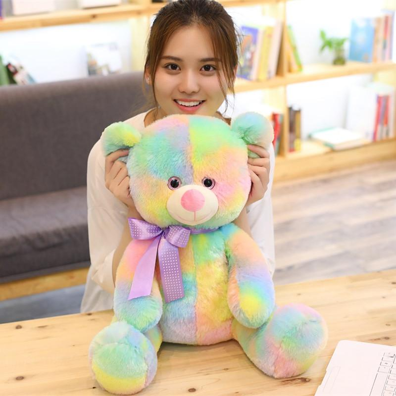 Cute Rainbow Stuffed Teddy Bear - Maraya's Marketplace