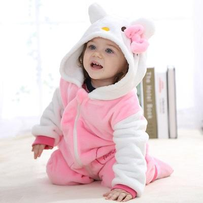 Funny Hello Kitty Baby Hooded Jumpsuit - Maraya's Marketplace