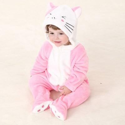 Funny Kitty Baby Hooded Jumpsuit - Maraya's Marketplace