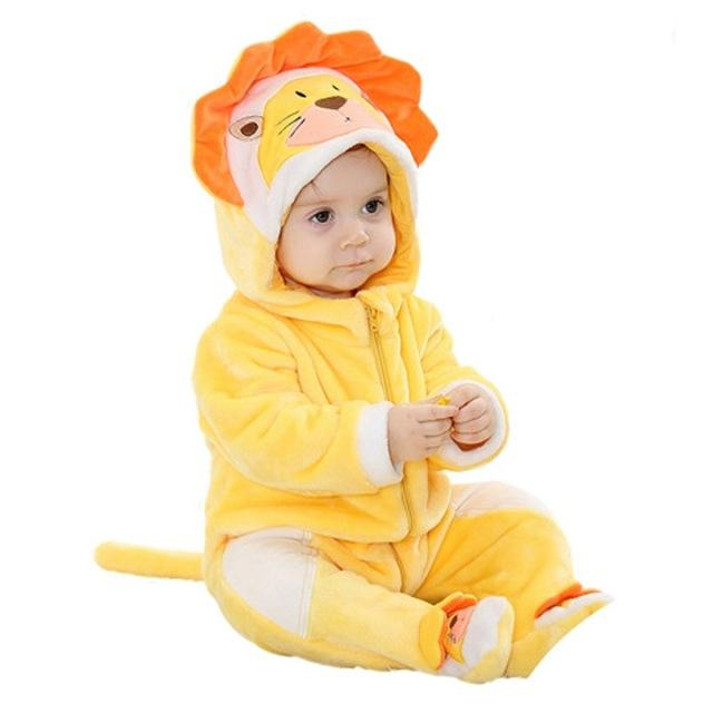Funny Lion Baby Hooded Jumpsuit - Maraya's Marketplace