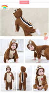 Funny Squirrel Baby Hooded Jumpsuit - Maraya's Marketplace