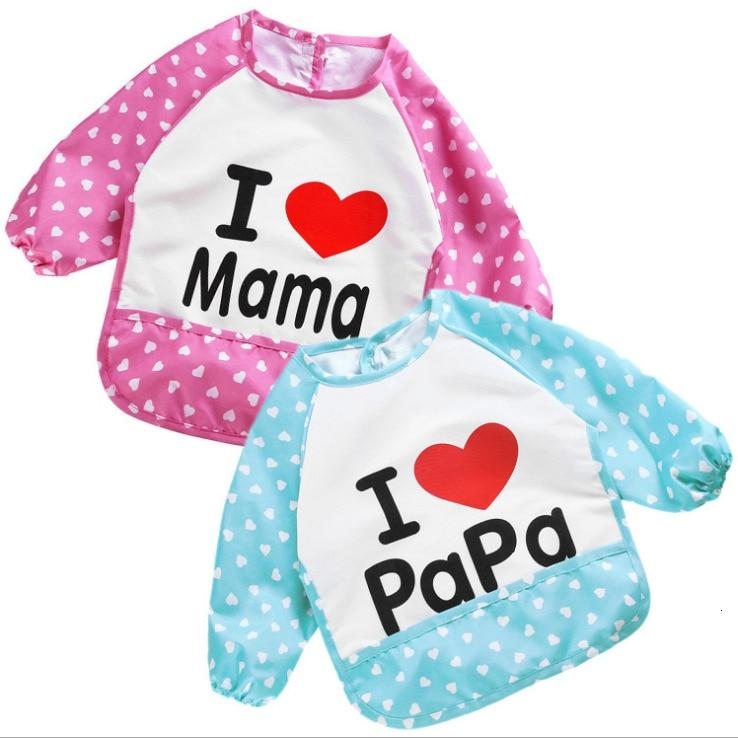 I Love Mama/Papa Bibs (2pcs Set) - Maraya's Marketplace