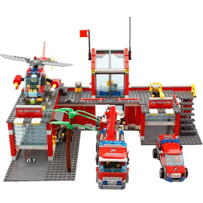LegoINGs Building Blocks - City Fire Fighting (774Pcs) - Maraya's Marketplace