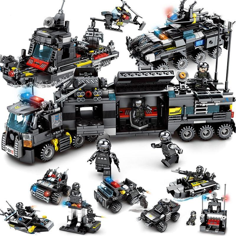 LegoINGs Building Blocks - City SWAT Police (8 in 1) - Maraya's Marketplace