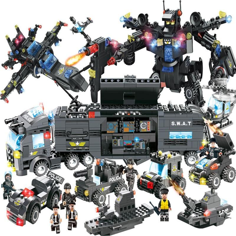 LegoINGs Building Blocks - City SWAT/Police ROBOCOP (8 in 1) - Maraya's Marketplace