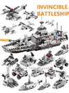 LegoINGs Building Blocks - Invincible Battleship (6 in 1) - Maraya's Marketplace