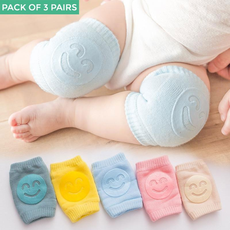 Non-Slip Baby Knees and Elbows Pads for Crawling (3 pairs) - Maraya's Marketplace