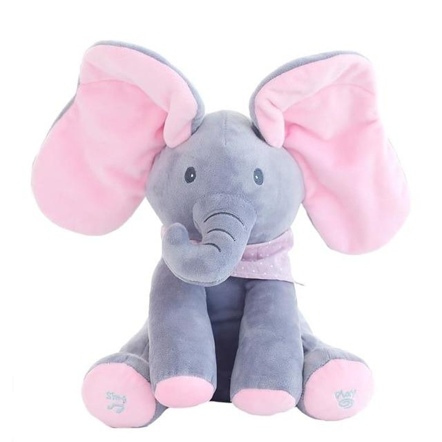 Peek A Boo Elephant Music Play Toy - Maraya's Marketplace