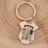Unique Romper Shape Stainless Steel Personalized Baby Keychain - Buy Two, Get One FREE - Maraya's Marketplace