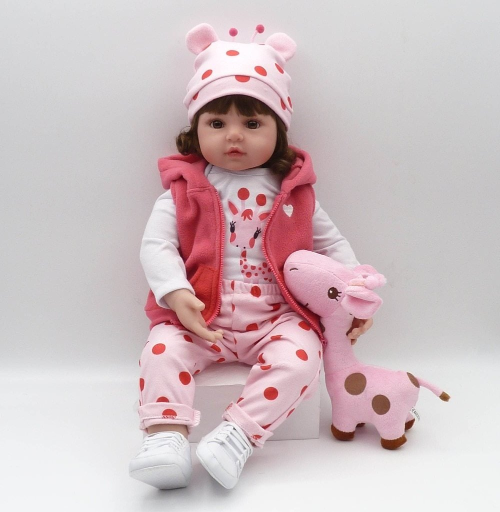 Unique 19inc/48cm Real Size Semi-Silicone Reborn Baby Doll - Maraya's Marketplace