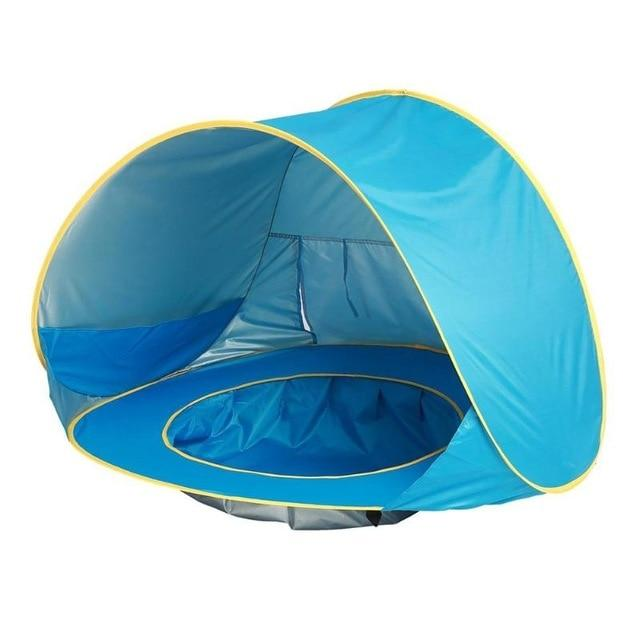 Waterproof Portable Lightweight Pop Up Baby Beach Tent w/ Pool (50+ UV Protection) - Maraya's Marketplace