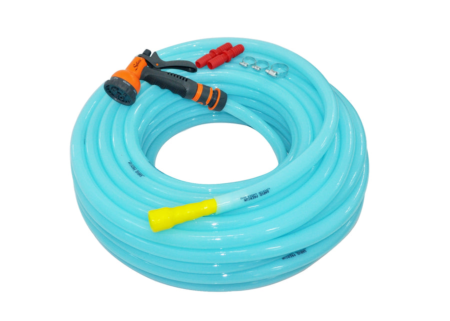 "Combo - 8 Pattern Sprinkler & Garud™ PREMIUM Heavy Duty Garden Hose Water Pipe (0.75"", 30M, 100ft)"