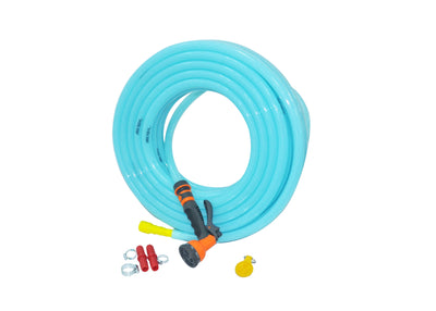 "Combo - 8 Pattern Sprinkler & Garud™ PREMIUM Heavy Duty Garden Hose Water Pipe (0.75"", 15M, 50ft)"