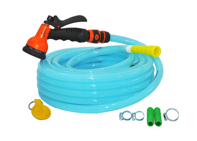 "Combo - 8 Pattern Sprinkler & Garud™ PREMIUM Heavy Duty Garden Hose Water Pipe (0.5"", 15M, 50 ft)"