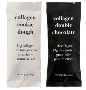 Collagen Protein Bars Split Pack (3 Cookie Dough + 3 Double Chocolate)