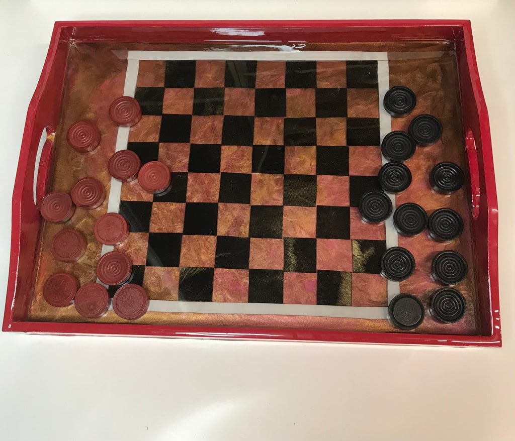 Checker board tray
