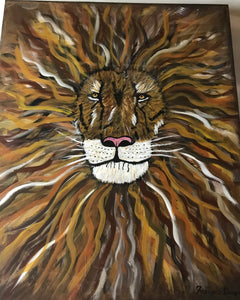 Lion Head 16x20 Canvas