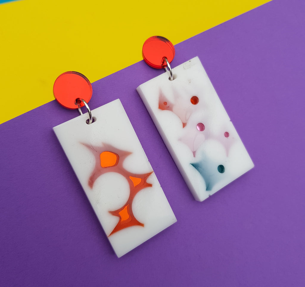 Recycled cast earrings