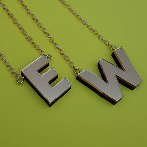 Chunky gold perspex letter necklace