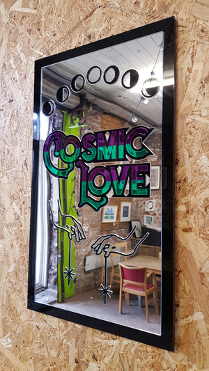 Cosmic Love Laser Cut Sign