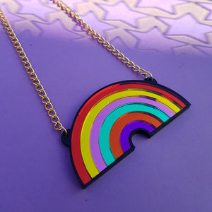 Rainbow necklace larger