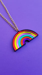 Rainbow necklace small