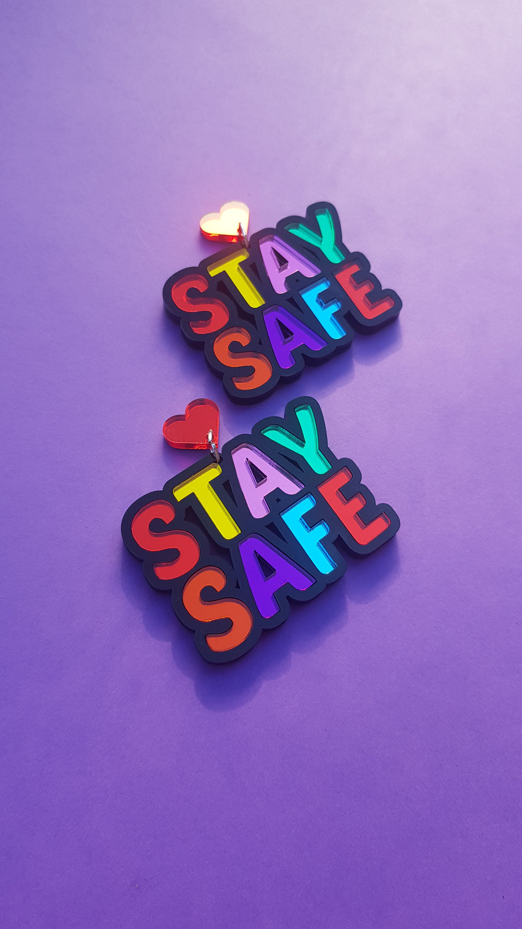 Stay Safe earrings/necklace