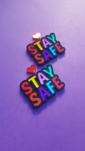 Stay Safe earrings