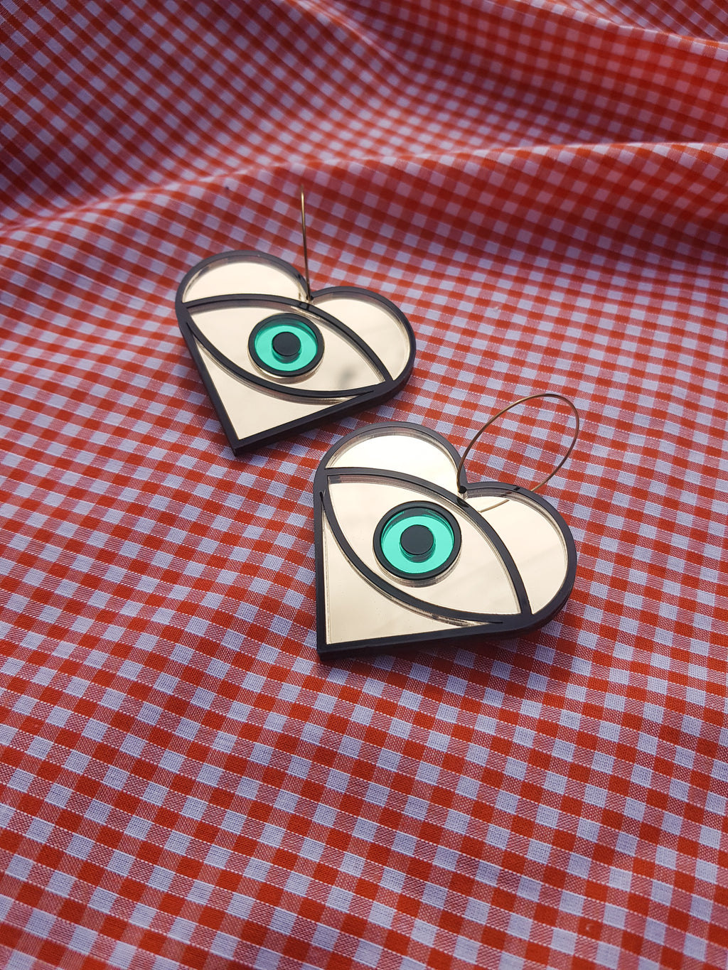 Large statement eye earrings