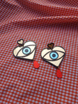 Statement eye earrings with drop