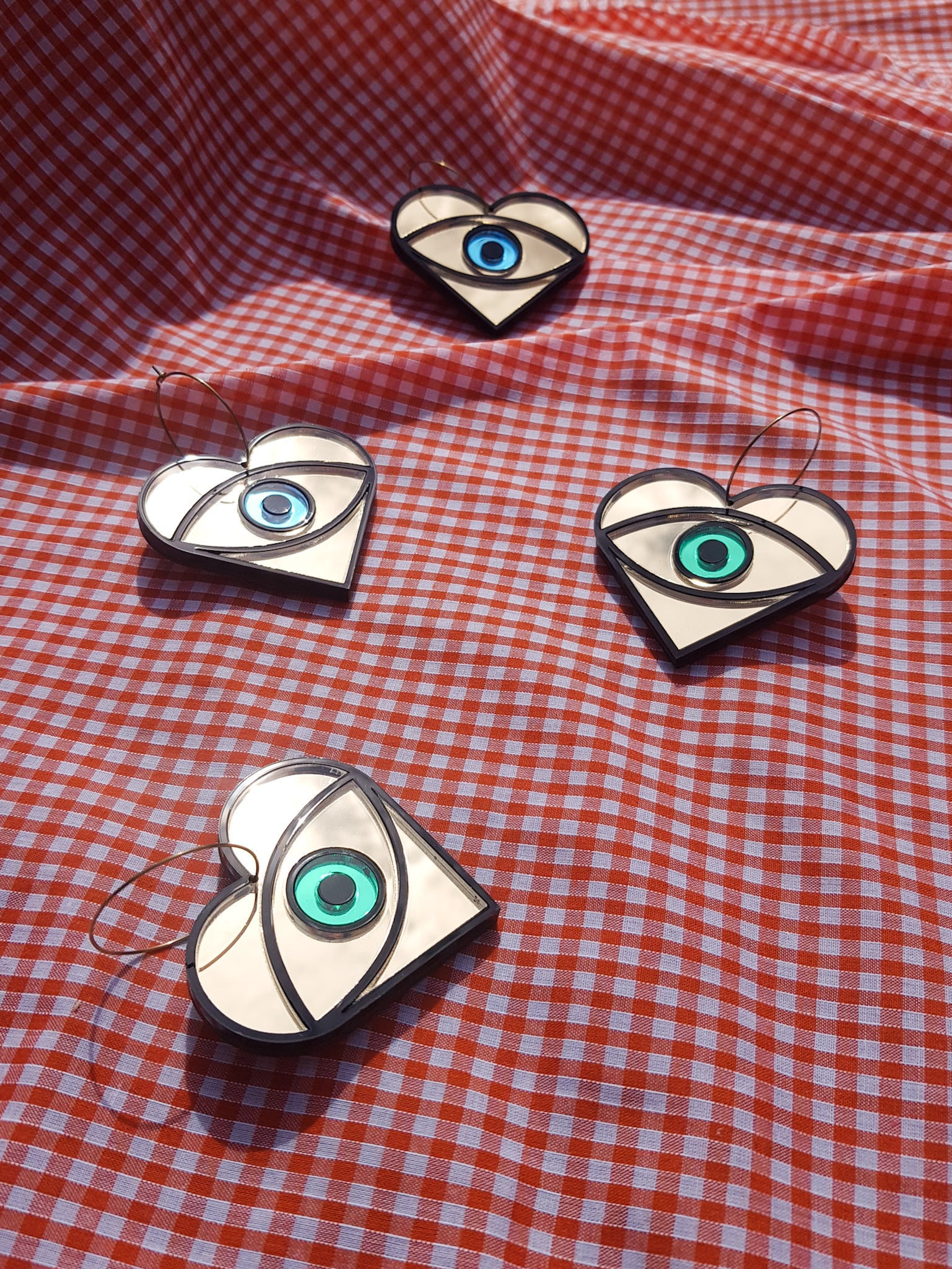 Flaming eye earrings