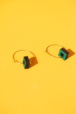 Tondo mini brass hoops earrings
