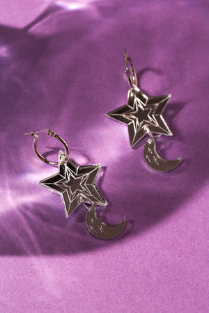 Christmas Moon & Star Hoop