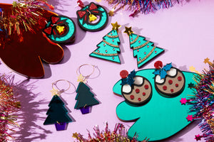 Kitsch Christmas Pudding Earrings