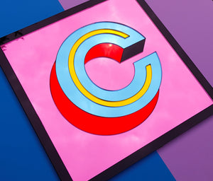Custom Colour Monogram Letter Sign