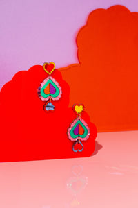 Heart Statement Earring (rainbow)