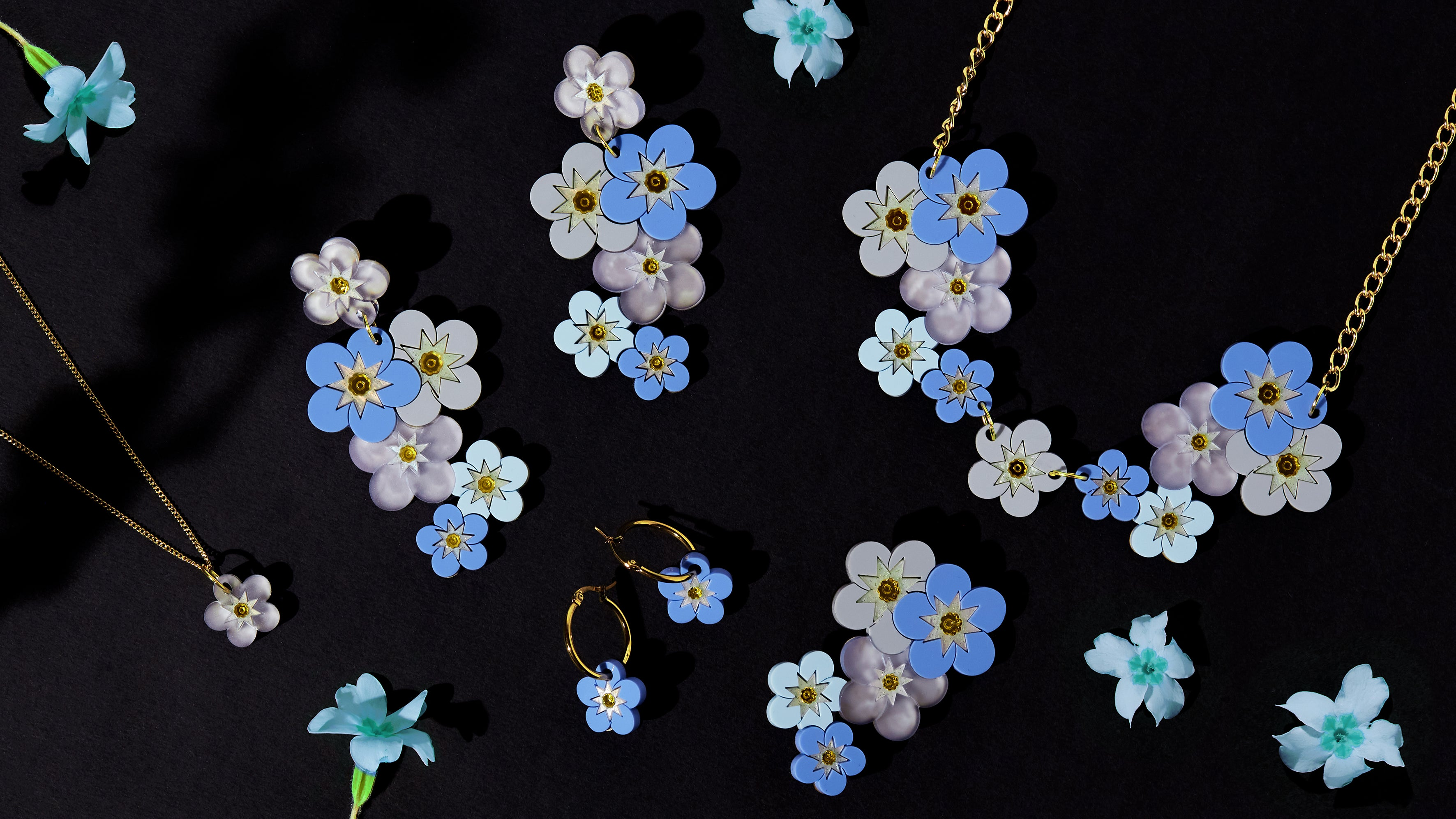 Forget Me Not Mini Necklace