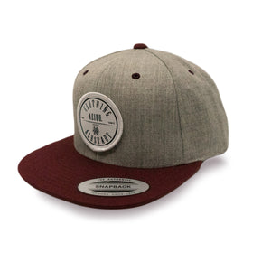 AEIOU CIRCLE Cap - Grey-Maroon