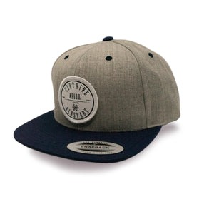 AEIOU CIRCLE Cap - Grey-Navy