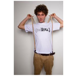 AEIOU LOGO Shirt - White