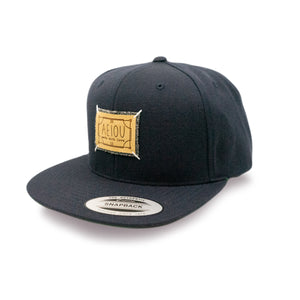 AEIOU LOVE Snapback Cap by Yupoong - Navy