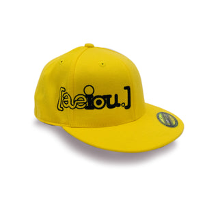 AEIOU Logo  210 Fitted by Flexifit Cap - Yellow