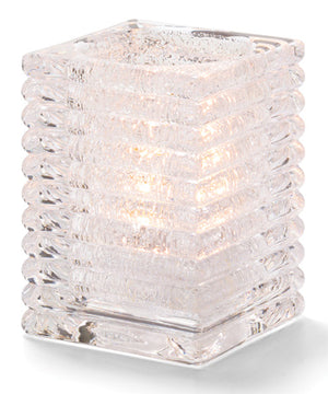 Horizontal Rib Block Glass Lamp - 3 colours