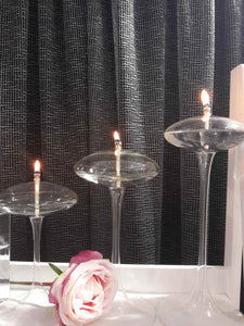 "Omni Stem 7"",  9"" or 11""   Handcrafted Glass Candles"