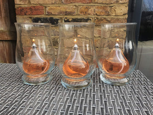 Mini Teardrop Moulded Glass Candle