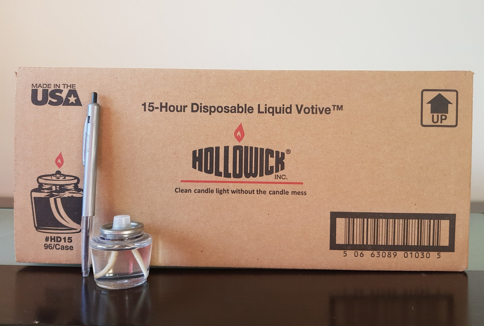15 Hour Disposable Liquid Tealight - by the box (96 units per box)