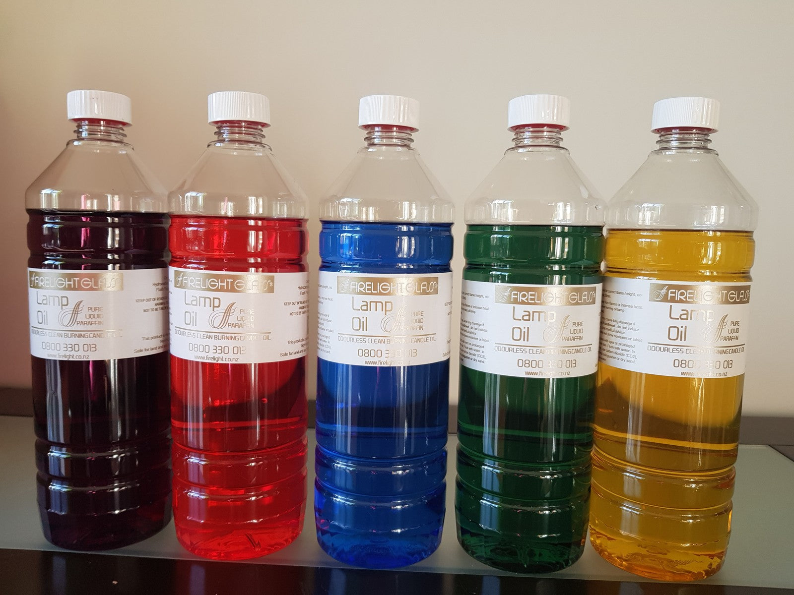 Liquid Lamp Oil - 1 Litre (Various Colours Available)