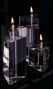 3¬Ω Prism Handcrafted Glass Candle - Medium