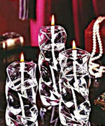 Swirl Pillar Handcrafted Glass Oil Candle